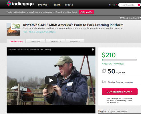 Raising Funds for Anyone Can Farm